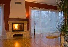 Free Modern Fireplace Royalty Free Stock Photos - 4603038