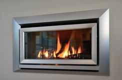 Modern fireplace Stock Images