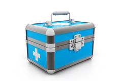 Modern First aid kit. 3d illustration of Modern First aid kit Royalty Free Stock Images