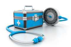 Modern First aid kit. 3d illustration of Modern First aid kit Royalty Free Stock Photo