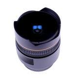 Modern fisheye lens. Closeup of the modern fisheye lens for the single lens reflex camera Stock Images