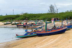 Modern fishing boat on harbor in Thailand Royalty Free Stock Photos