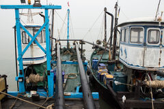 Modern fishing boat Stock Images