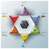 Modern Fission Triangle And Hexagon Business Infographic Royalty Free Stock Photography