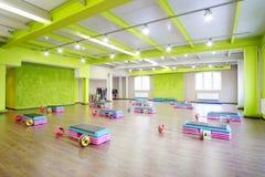 Modern fitness hall Stock Photo