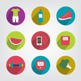 Modern fitness and health life stale icon. Stock Photography