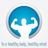 Modern fitness sign Royalty Free Stock Photography
