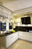 Modern fitted kitchen Stock Images