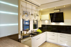 Modern fitted kitchen Stock Photo