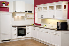 Modern fitted kitchen Royalty Free Stock Image