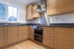 Modern fitted kitchen Royalty Free Stock Images