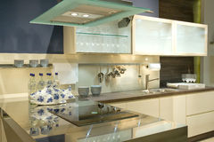 Modern fitted kitchen Stock Photography