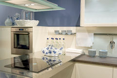 Modern fitted kitchen Royalty Free Stock Photography