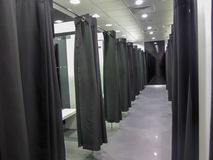 Modern fitting room in a fashion shop Stock Image
