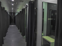 Modern fitting room in a fashion shop Royalty Free Stock Photo