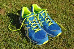 Modern flashy running shoes Royalty Free Stock Photos