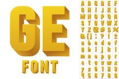 Modern flat alphabet Stock Image