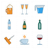 9 modern flat bar icons. This is a vector illustration of nine modern flat bar icons Royalty Free Stock Image