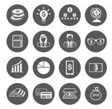 Modern flat business icons set Stock Photos