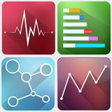 Modern flat business icons vector collection Royalty Free Stock Photography