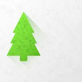 Modern flat christmas tree with triangles Royalty Free Stock Photos