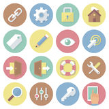 Modern flat colorful vector business icons set. Interface. Isolated on white background. Stock Image