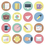Modern flat colorful vector business icons set. Isolated on white background. Royalty Free Stock Photo