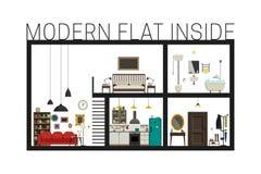 Modern flat in cut. Royalty Free Stock Image