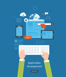 Modern flat design application development concept Royalty Free Stock Images