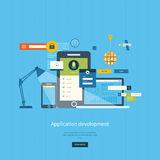 Modern flat design application development concept Stock Image