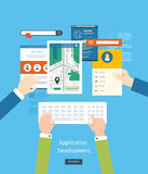 Modern flat design application development concept Royalty Free Stock Photos