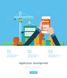 Modern flat design application development concept Stock Photography