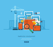 Modern flat design application development concept Stock Images