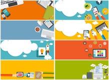 Modern Flat Design Banner Set for your Business. Vector Illustration EPS10r Stock Images