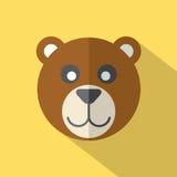 Modern Flat Design Bear Icon Stock Image