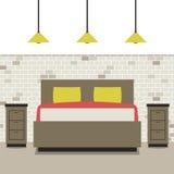 Modern Flat Design Bedroom Stock Photos