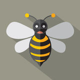 Modern Flat Design Bee Icon. Stock Photo