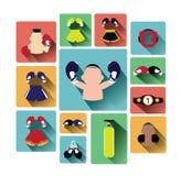 Modern flat design boxing icons set Royalty Free Stock Image