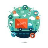 Modern flat design business infographics Stock Photography