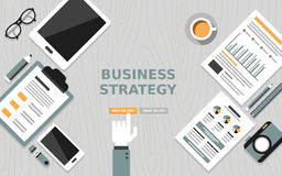 Modern flat design of business strategy Stock Images