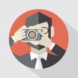 Modern Flat Design Camera Man Royalty Free Stock Image