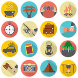 Modern Flat Design Camping And Outdoor Activity Icon Set Stock Photo