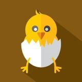 Modern Flat Design Chick Icon. Stock Photos