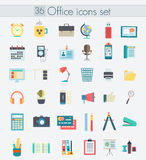 Modern flat design color office icons. Web element. Modern flat design color office icons. Web design objects Stock Images