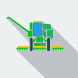 Modern flat design concept icon combine harvester Royalty Free Stock Photography