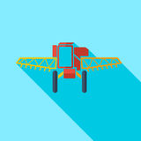 Modern flat design concept icon combine harvester Stock Photo