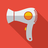 Modern flat design concept icon electric Hair Royalty Free Stock Images