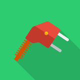 Modern flat design concept icon electrical plug . Stock Photos