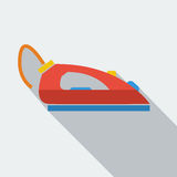 Modern flat design concept icon iron for Ironing. Royalty Free Stock Photography