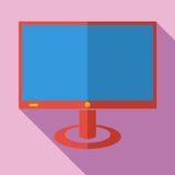Modern flat design concept icon monitor  tv. Stock Photos